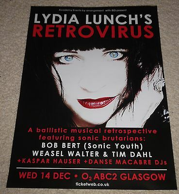 Lydia Lunch CONCERT POSTER - dec 2016 live music show concert gig tour poster
