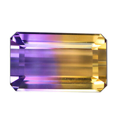6.79Ct Exceptional AAA Octagan 14 x 9 mm Bi-Color Top Quality Bolivia Ametrine