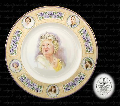 ROYAL DOULTON CLASSICS QUEEN MOTHER LIMITED EDITON COLLECTOR PLATE NUMBER 1904 a