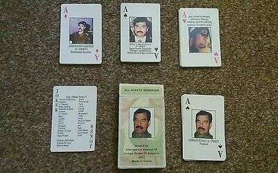 Iragi Most Wanted Playing Cards - Iraq War - Sealed & New
