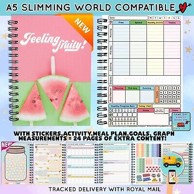 FOOD DIET DIARY 3mth JOURNAL SLIMMING WORLD COMPATIBLE  WEIGHT LOSS Bk 22 - 2017
