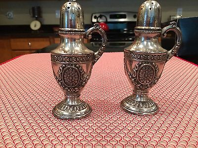 Pair Of Vintage Looking Silverplated Salt And Pepper Shakers