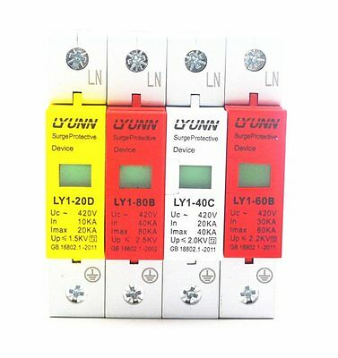 1P 2P 3P 4P / 20KA 40KA 60KA 80KA Surge Protection Device SPD Lightning Arrester