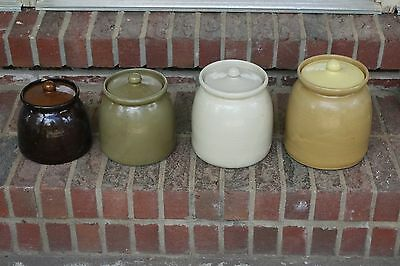 Vintage Bybee Pottery Canister Set Yellow Molasses old
