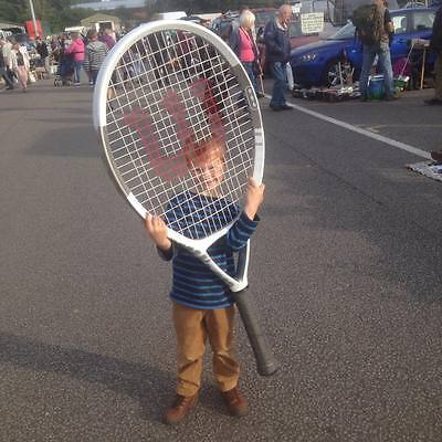 Giant tennis racket ex retail display prop wikison sporting sport theme party