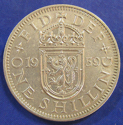 1959 1/- Type 2 variety Scottish Shilling in an unusually good grade