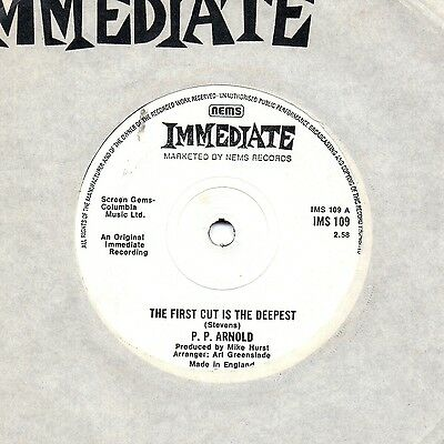 P.P. ARNOLD the first cut is the deepest 1975 UK IMMEDIATE RE 45