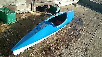 CANOE, TWO MAN 4ft6 =4.4 METER, VERY STABLE RIVER /LAKE, RE GELL COATED,