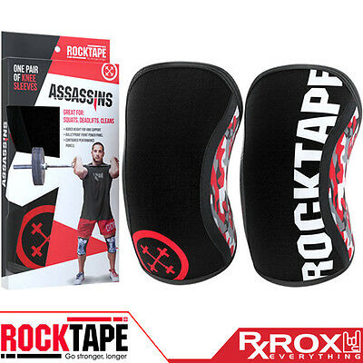 RockTape Assassins Knee Support Sleeves | Pair | 5mm | Camo | CrossFit