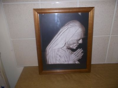 mother teresa picture glass framed very rare to find.