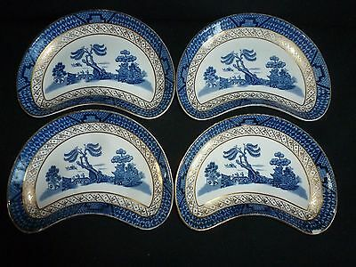 Four Booths Real Old Willow Pattern Side Or Salad Plates