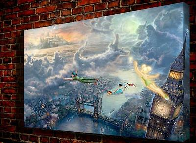 """Oil Painting Print On Canvas Modern Wall Art landscape fly to Neverland 16""""x12"""""""