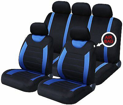 Oxford Blue 9 Piece Full Set Of Seat Covers For Fiat Punto/Grande Punto