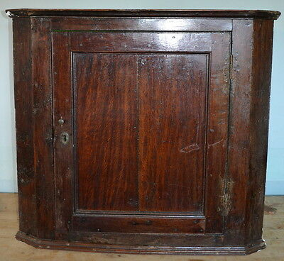 Vintage Antique Oak Corner Cabinet Cupboard Shabby Chic Rustic French Kitchen