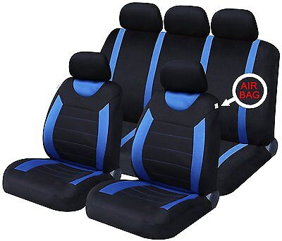 Oxford Blue 9 Piece Full Set Of Seat Covers For Toyota Yaris/Vitz