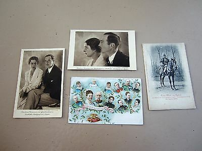 4 Vintage postcards of German Royal family