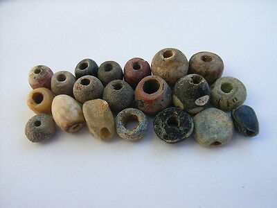 20 Ancient Egyptian Glass, Clay Beads, Egypt VERY RARE!