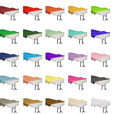"Plastic Banquet Party Table Cover Roll - 40"" x 300 Feet - Disposable FREE SHIP!!"
