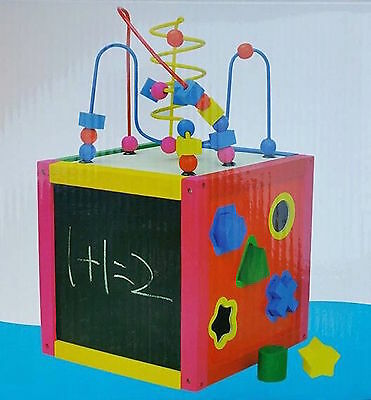 toybox 5-in-1 multiplay activity centre wooden toy activity cube