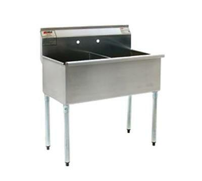 Eagle Group Stainless Steel Utility Sink 18In X 21In 2 Compartment - 2136-2-16/4