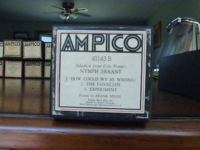 Cole Porter Selection From Nymph Errant Ampico Re-Cut Piano Roll