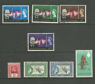 Gilbert & Ellice Islands: 1918-1965 A selection used + M/M