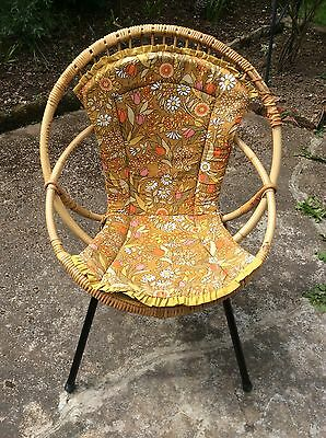 Vintage Hoop Chair With Original 1950's/60's Cover Roche Noowolde Style