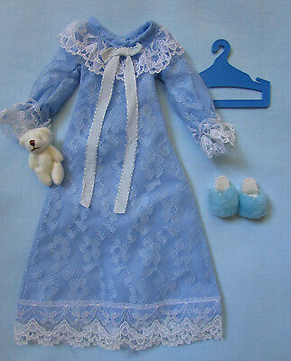 Fab Rare Vintage 1979 Sindy Doll Clothes Sweet Dreams Sindy Blue Nightie Outfit