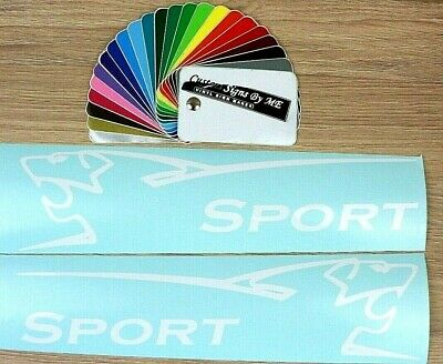 2x Peugeot Sport Vinyl Stickers Decals Adhesive 206 207 208 306 307 308 GTI WHIT
