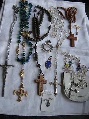 Large Collection Of Vintage Rosaries And Charms