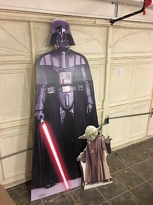 Lifesize Darth Vader And Separate Yoda. Thick Card  Cut Out Used Once