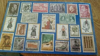 Different greek stamps