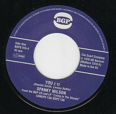 "SPANKY WILSON You / Sunshine Of Your Love NEW CLASSIC FUNK 45 (BGP 7"" VINYL SOUL"