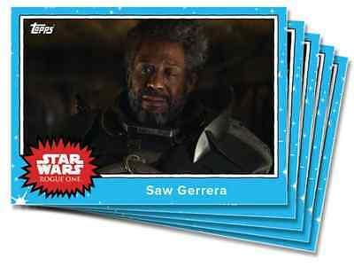 2016 Topps Star Wars Rogue One Mission Brief Monday MBM Set 4 #MBM11-15 (5) TBT