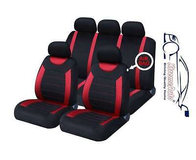 Oxford Red 9 Piece Full Set Of Seat Covers For Toyota Yaris/Vitz