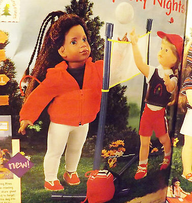 Magic Attic Doll Volleyball Net And Ball Set fits American Girl