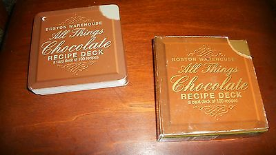 "Boston Warehouse ""All Things Chocolate"" Recipe Deck-over 100 recipe cards"