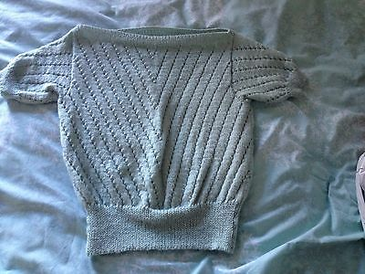 Beautiful hand-knitted 1940s style top