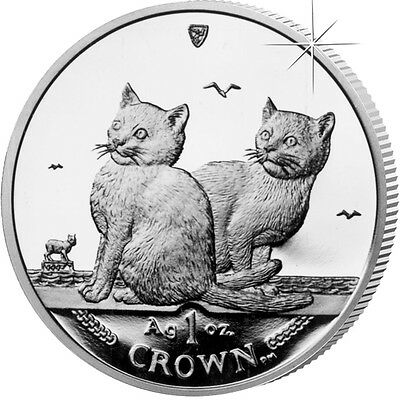 Isle of Man Balinese Cat 2003 Uncirculated Cupro Nickel 1 Crown Coin