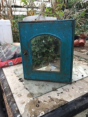 Vintage Metal Mirrored Bathroom Wall Cabinet Cupboard (Industrial /Shabby Chic)