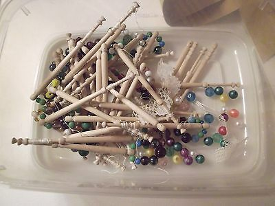 Lace Bobbins with pattern