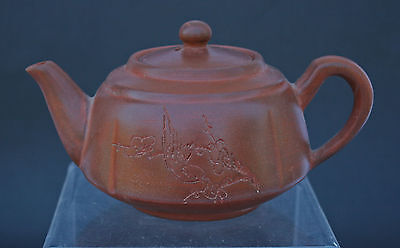 Vintage Chinese Yixing Pottery Teapot - French Flea Market Find