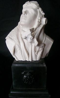 """Marble Bust James """" Ginger"""" Lacey Ace Raf Ww2 Fighter Pilot Battle Of Britain"""