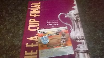 f a cup final programme and ticket 1997
