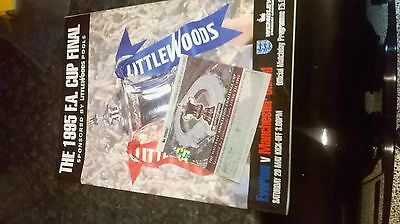 f a cup final programme and ticket 1995