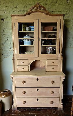 Old Pine Glazed Dresser...Continental...Antique...