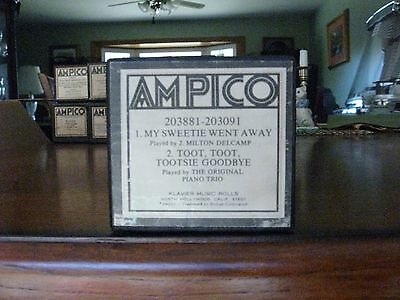 My Sweetie Went Away & Toot, Toot Tootsie Ampico Re-Cut Piano Roll