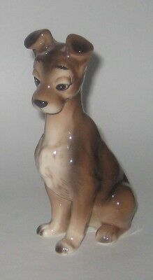 LADY & The TRAMP Vintage DISNEY Made in JAPAN Pottery FIGURINE