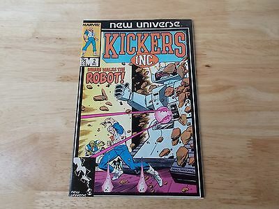 Collection of 2 Marvel KIckers Inc. Comic Books 1986-1987