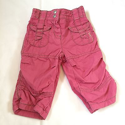 Next Pink Combat Cargo Trousers Bottoms Baby Girls 3-6 Months Clothes